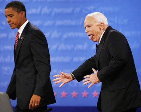 last night's debate in pictures