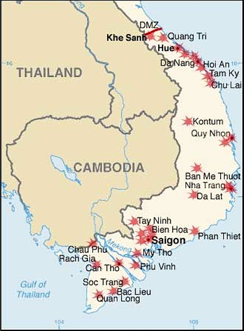 Tet The Edge Of The American West The Chronicle Of Higher - Map of us military bases in vietnam