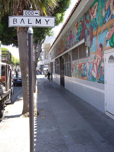 Entrance to Balmy Alley
