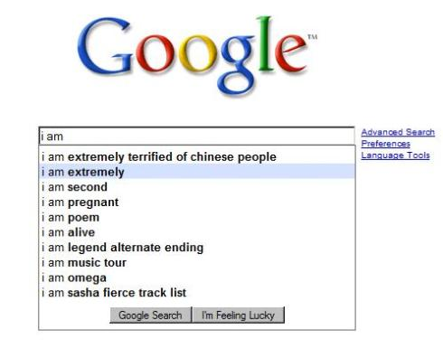 ..and I'm reasonably sure Google's suggestions are based on the frequency of the search...